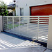 Automatic Sliding Gate with Slat Style and Increased Spacing