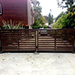 Automatic Swinging Gates with Steel Frame and Timber Infills